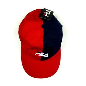 FILA Unisex Split Colorblock Spellout Baseball Hat